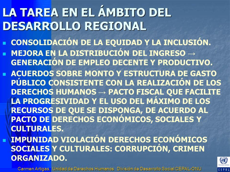 LA TAREA EN EL ÁMBITO DEL DESARROLLO REGIONAL