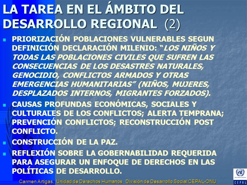 LA TAREA EN EL ÁMBITO DEL DESARROLLO REGIONAL (2)