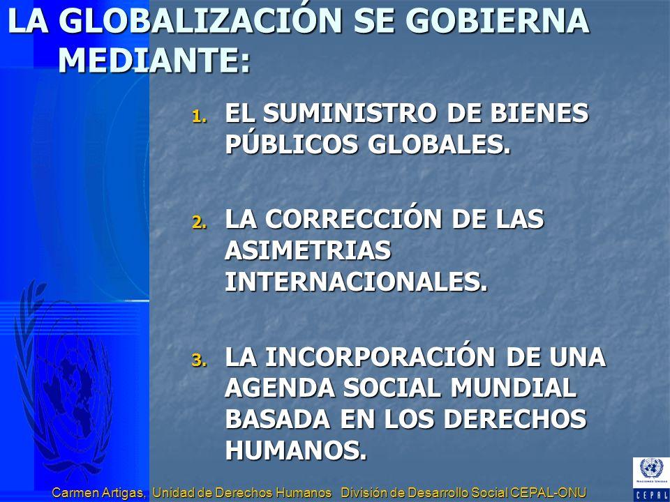 LA GLOBALIZACIÓN SE GOBIERNA MEDIANTE: