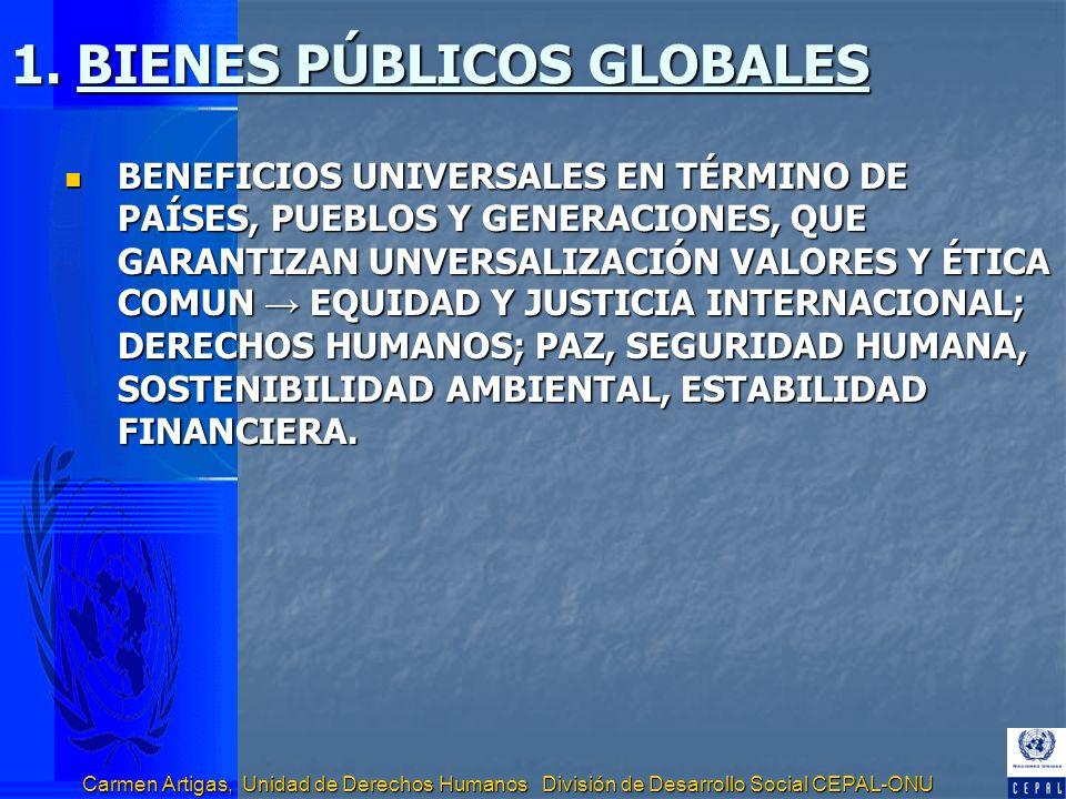 1. BIENES PÚBLICOS GLOBALES