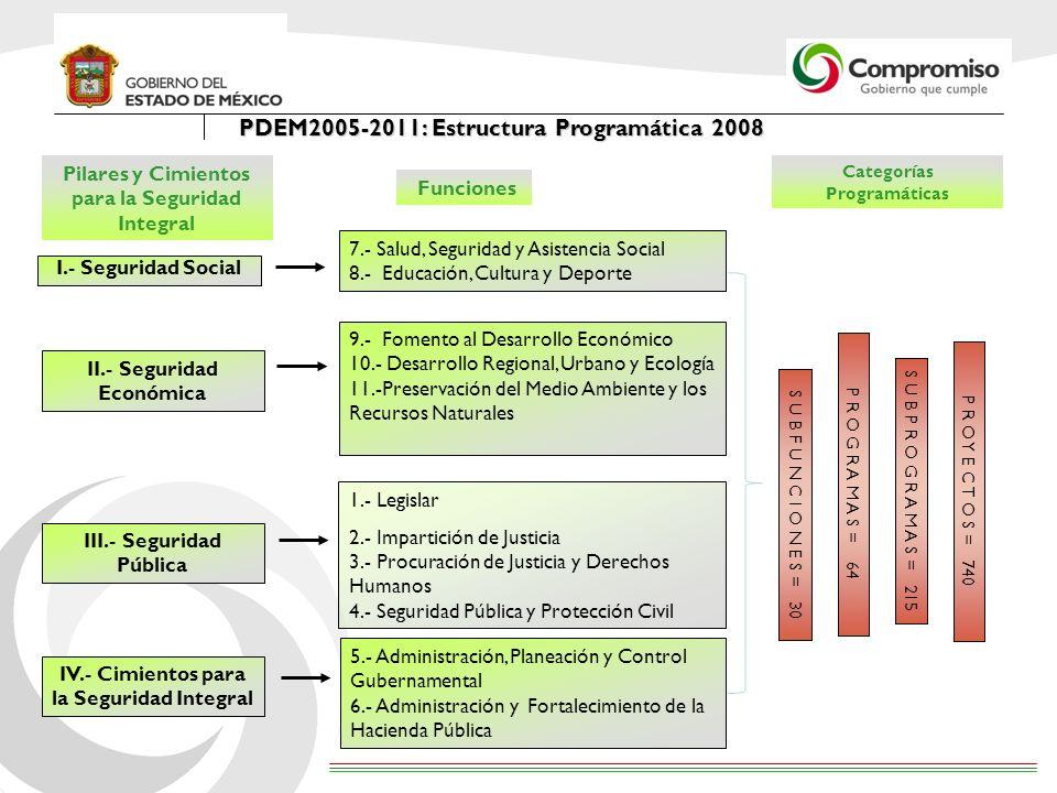PDEM2005-2011: Estructura Programática 2008