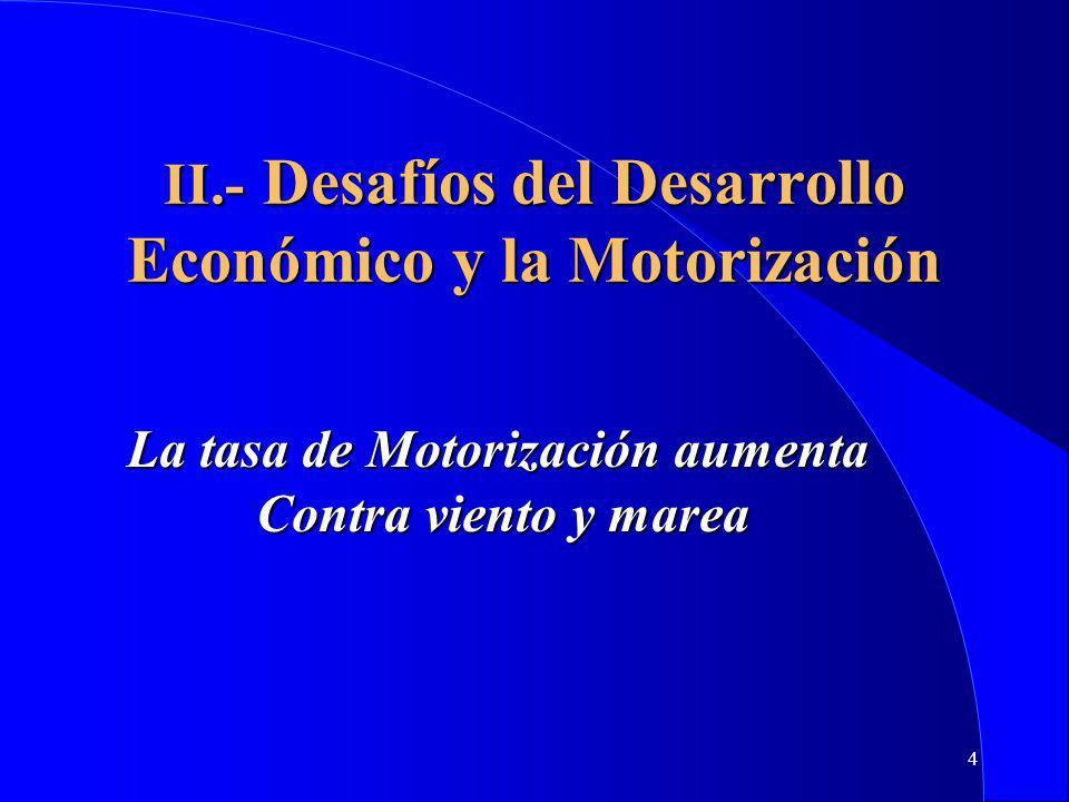 II.- Desafíos del Desarrollo Económico y la Motorización