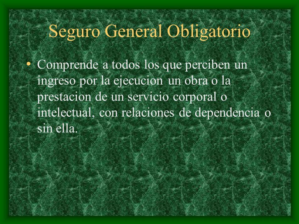Seguro General Obligatorio