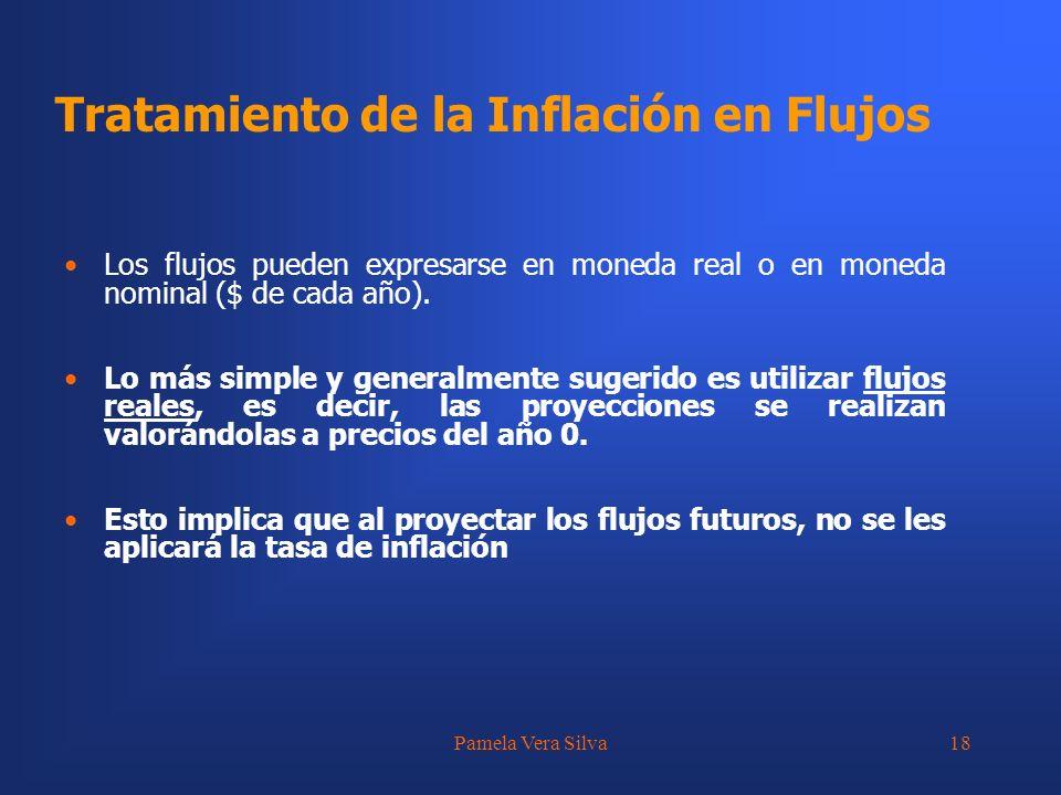Tratamiento de la Inflación en Flujos