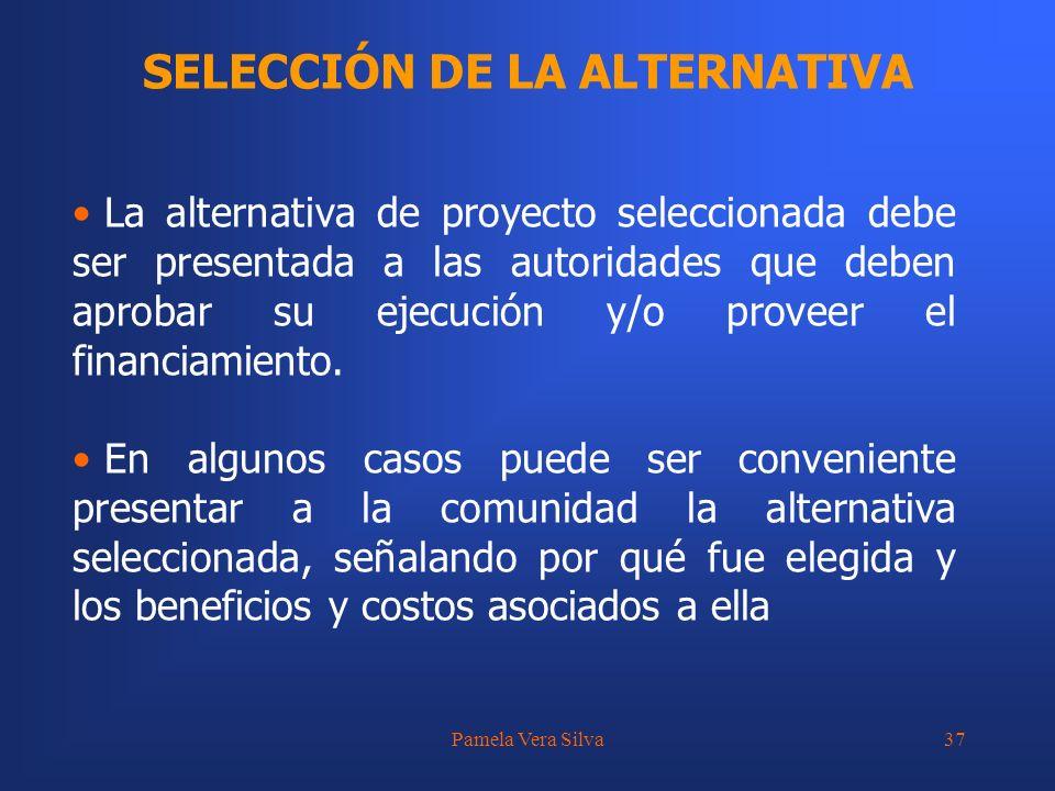 SELECCIÓN DE LA ALTERNATIVA
