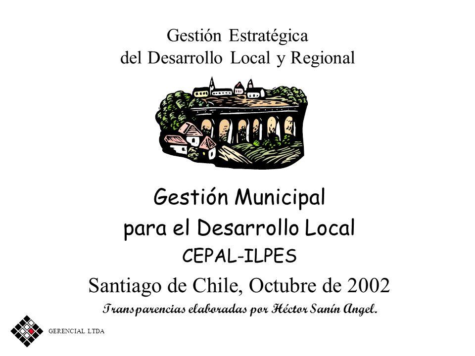 Gestión Estratégica del Desarrollo Local y Regional