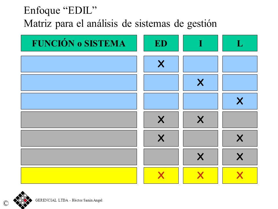 Enfoque EDIL Matriz para el análisis de sistemas de gestión