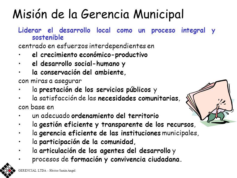 Misión de la Gerencia Municipal