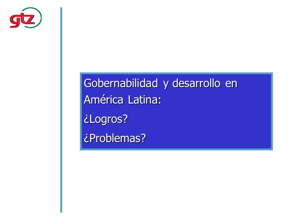 Gobernabilidad y desarrollo en América Latina: