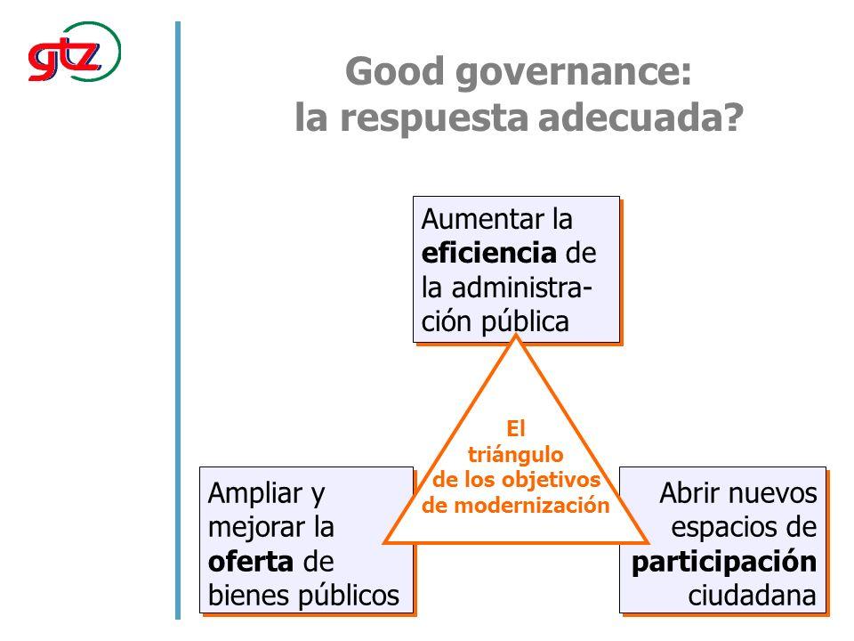 Good governance: la respuesta adecuada