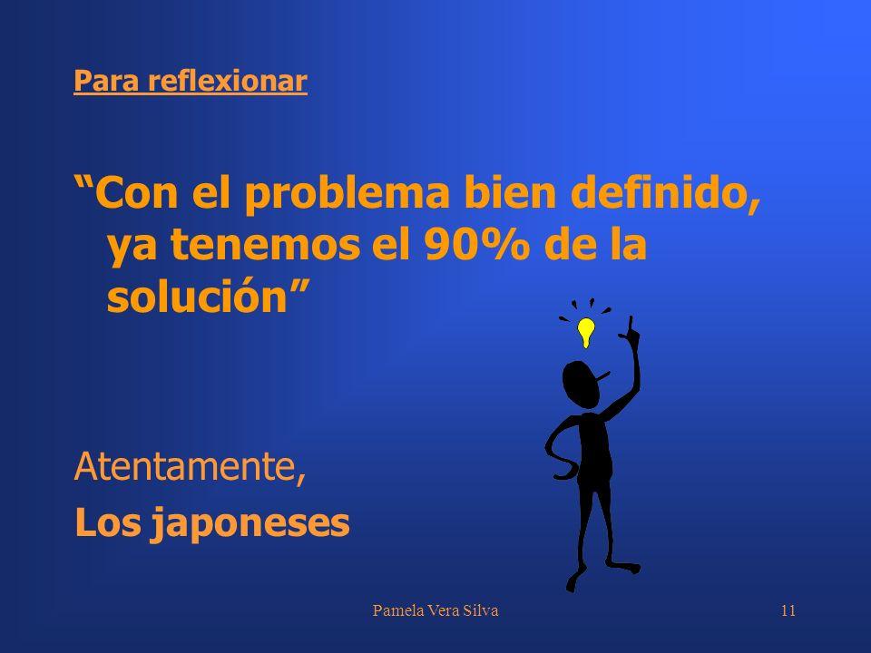 Con el problema bien definido, ya tenemos el 90% de la solución