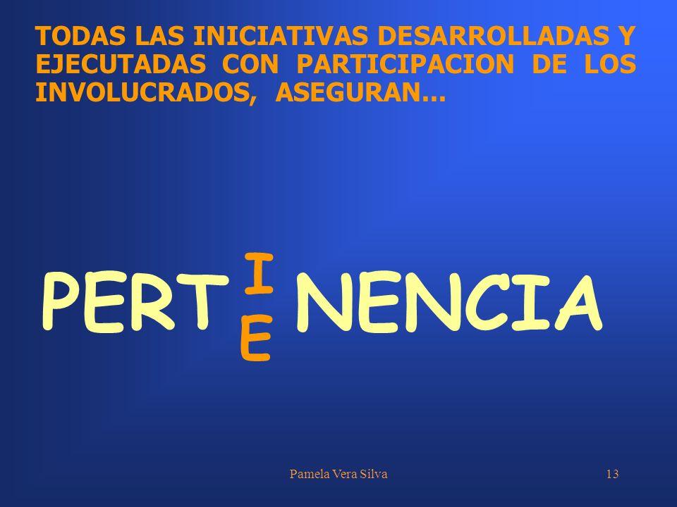 TODAS LAS INICIATIVAS DESARROLLADAS Y EJECUTADAS CON PARTICIPACION DE LOS INVOLUCRADOS, ASEGURAN...