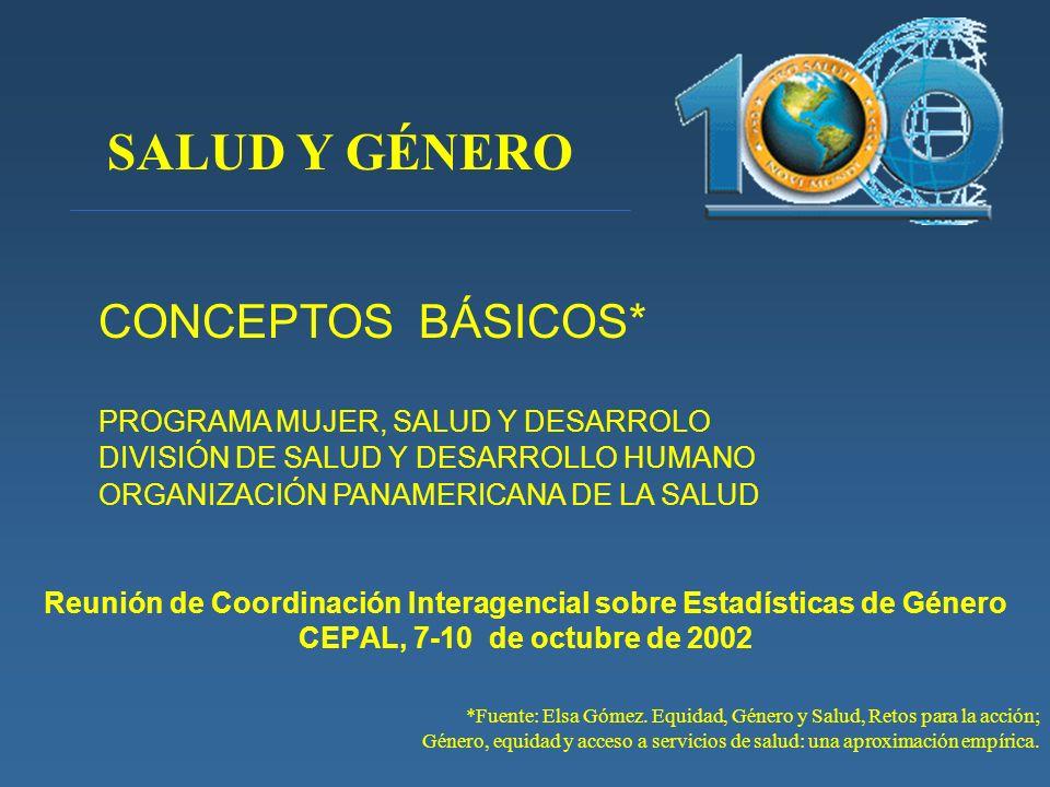 Reunión de Coordinación Interagencial sobre Estadísticas de Género