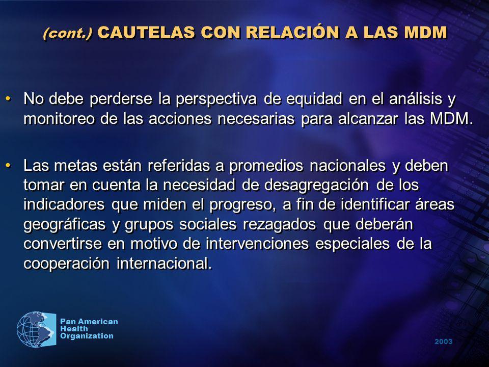 (cont.) CAUTELAS CON RELACIÓN A LAS MDM