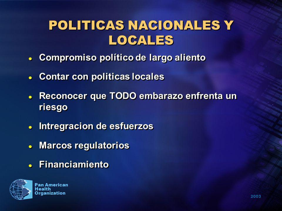 POLITICAS NACIONALES Y LOCALES