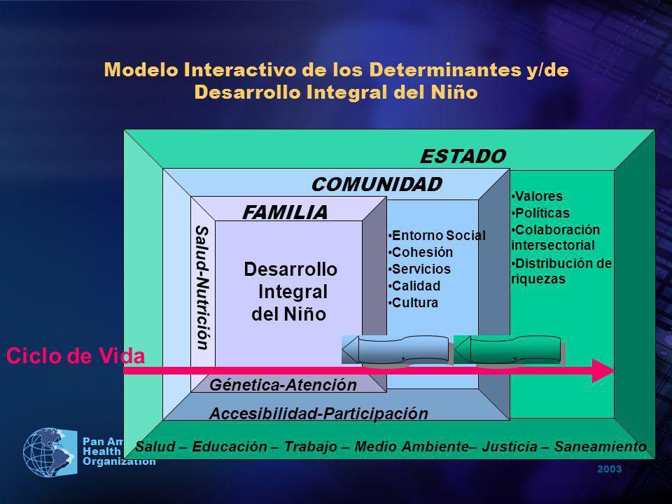 Modelo Interactivo de los Determinantes y/de Desarrollo Integral del Niño