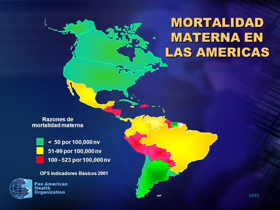 MORTALIDAD MATERNA EN LAS AMERICAS