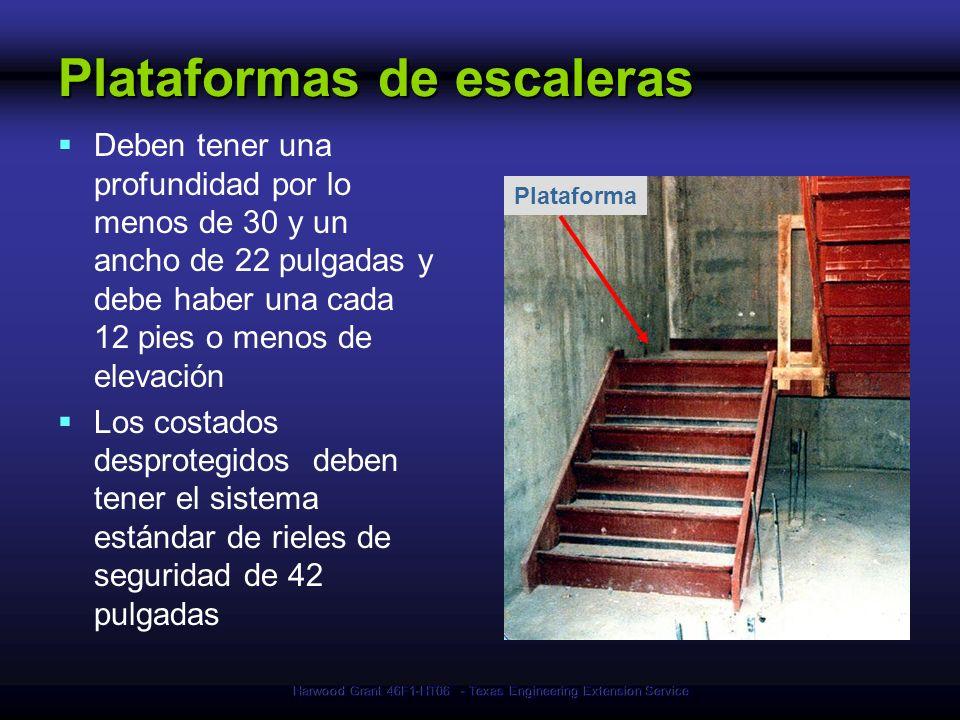 Plataformas de escaleras