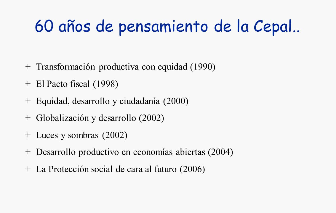 60 años de pensamiento de la Cepal..