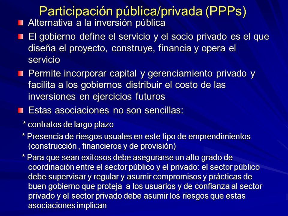 Participación pública/privada (PPPs)