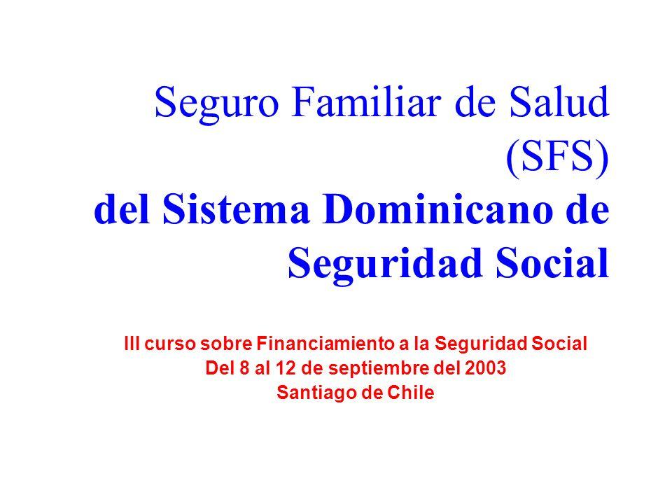 Seguro Familiar de Salud (SFS) del Sistema Dominicano de Seguridad Social