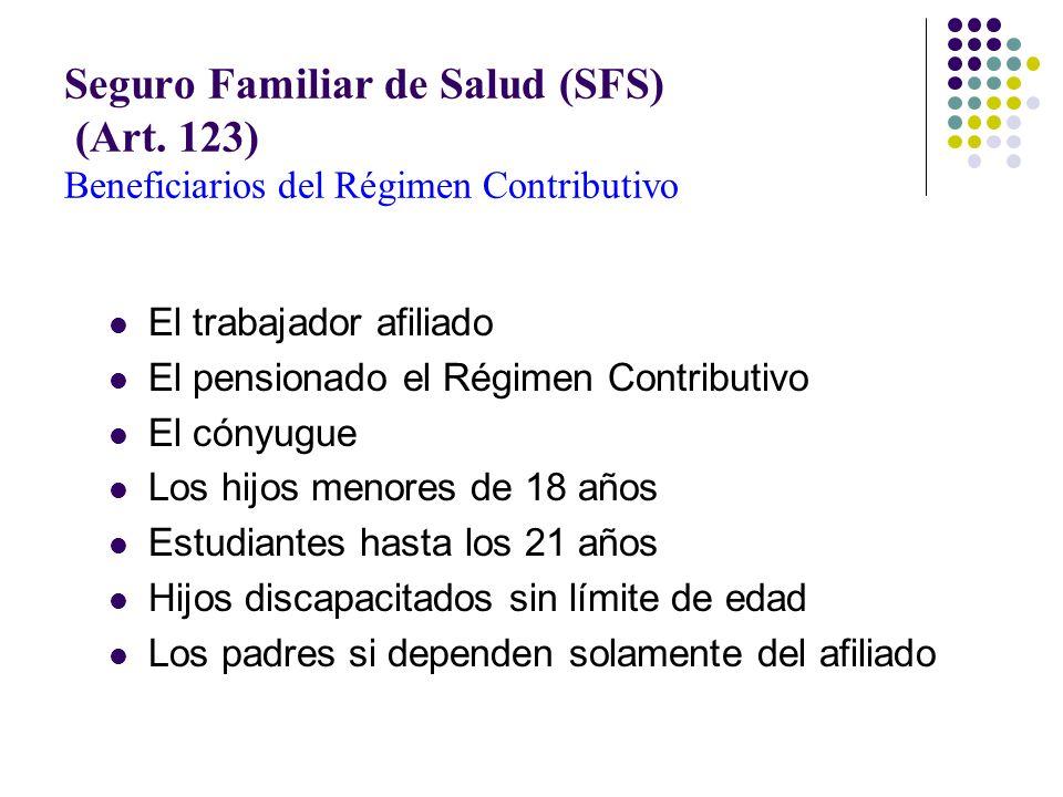 Seguro Familiar de Salud (SFS) (Art