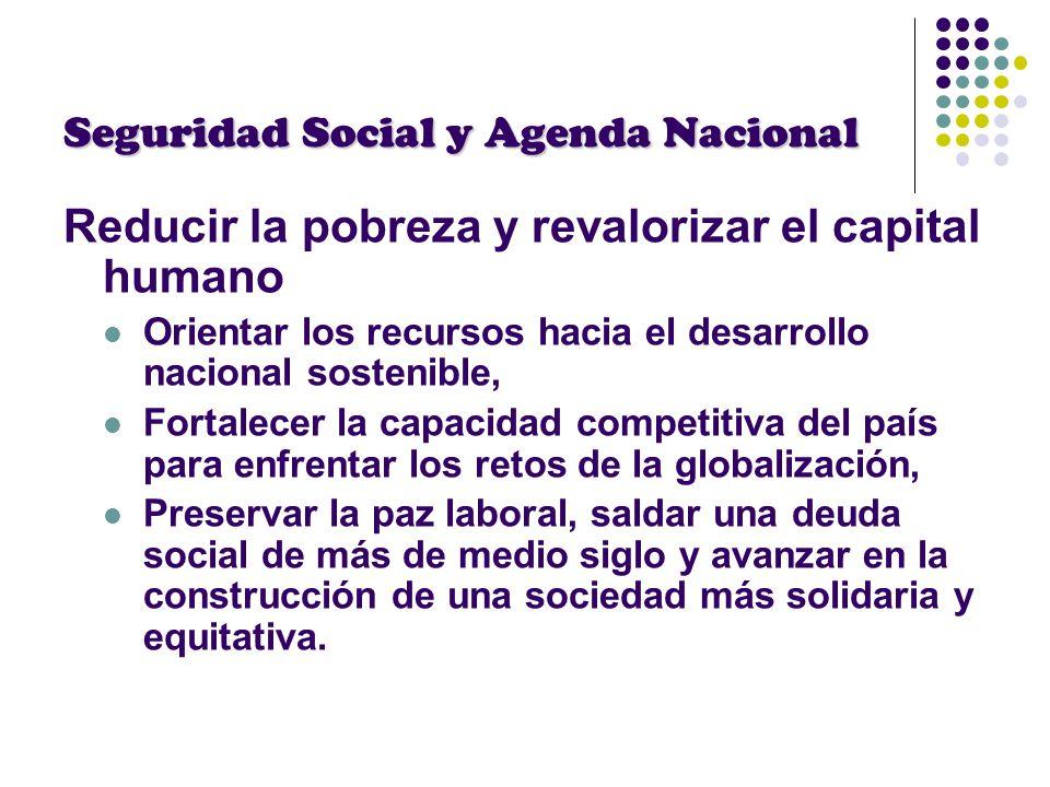Seguridad Social y Agenda Nacional