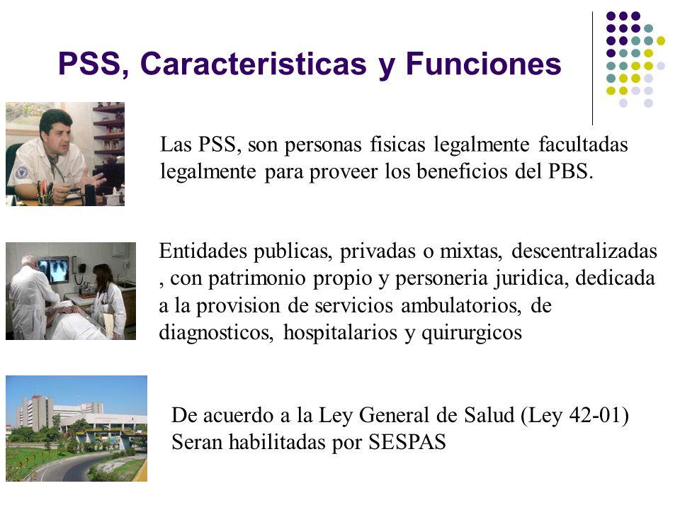 PSS, Caracteristicas y Funciones