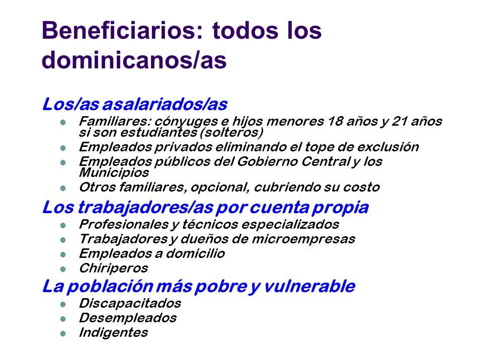 Beneficiarios: todos los dominicanos/as