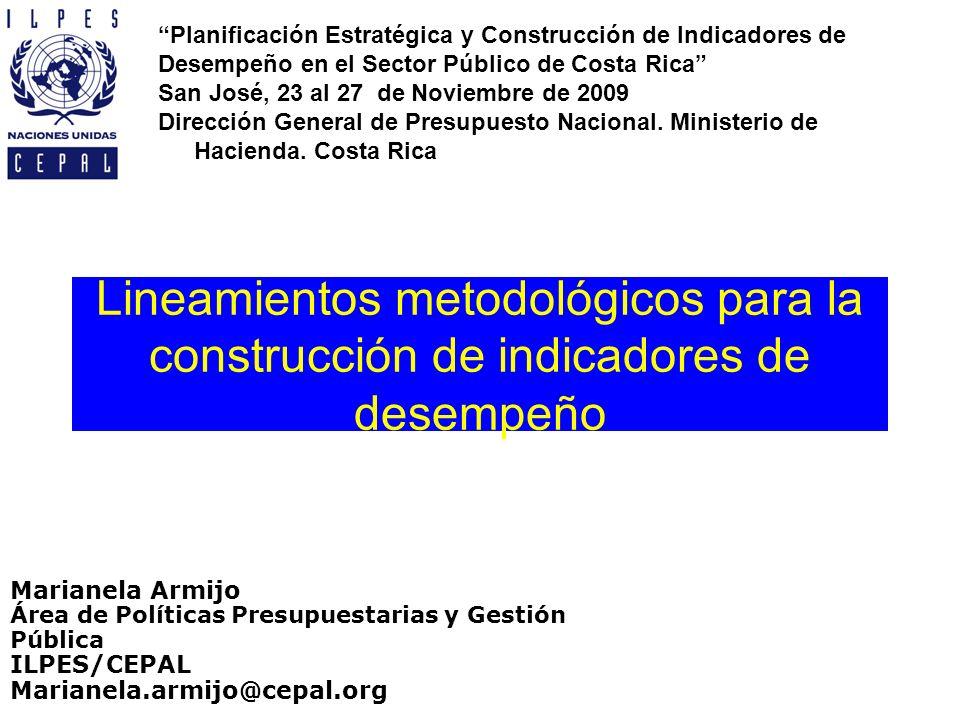 Planificación Estratégica y Construcción de Indicadores de