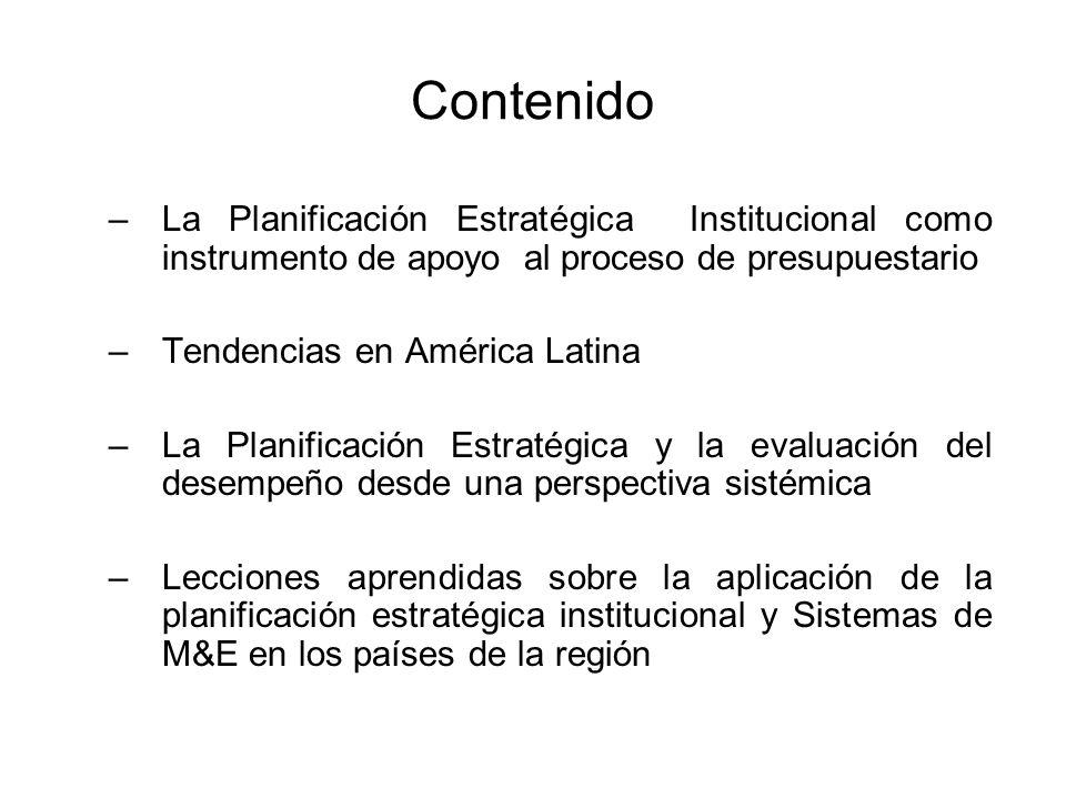 ContenidoLa Planificación Estratégica Institucional como instrumento de apoyo al proceso de presupuestario.
