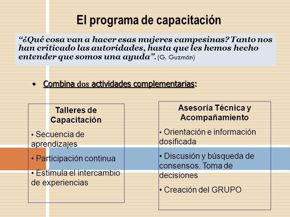 El programa de capacitación