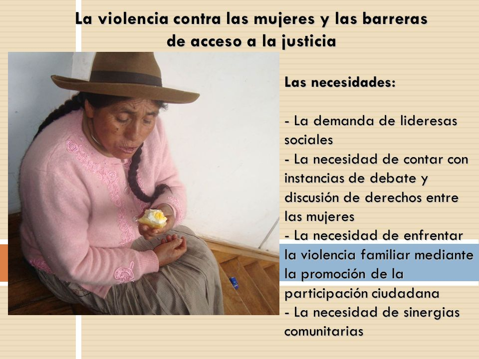 La violencia contra las mujeres y las barreras de acceso a la justicia