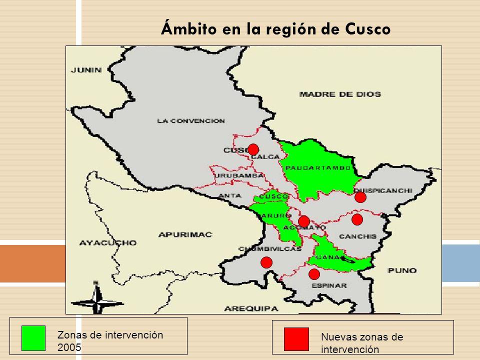 Ámbito en la región de Cusco