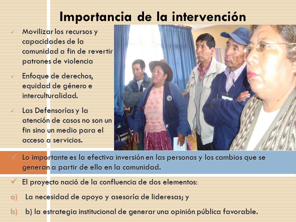Importancia de la intervención