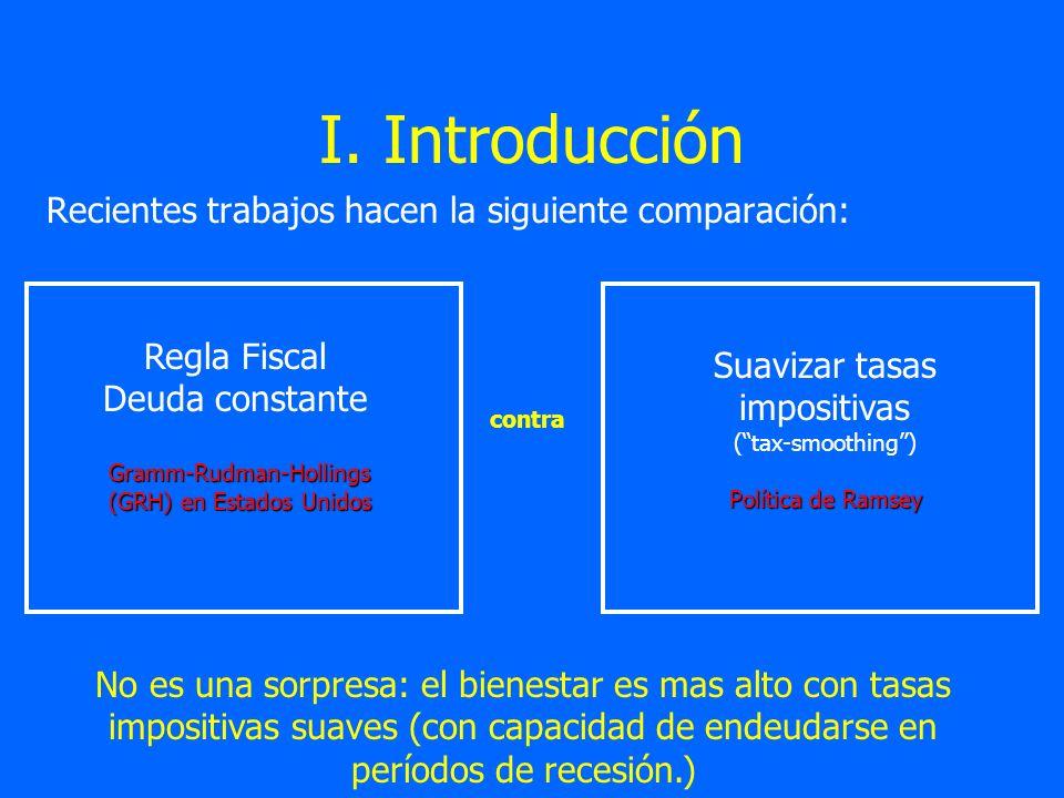 I. Introducción Recientes trabajos hacen la siguiente comparación: