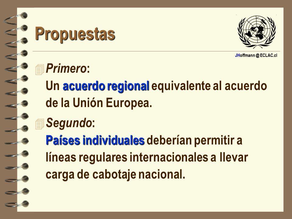 Propuestas Primero: Un acuerdo regional equivalente al acuerdo de la Unión Europea.