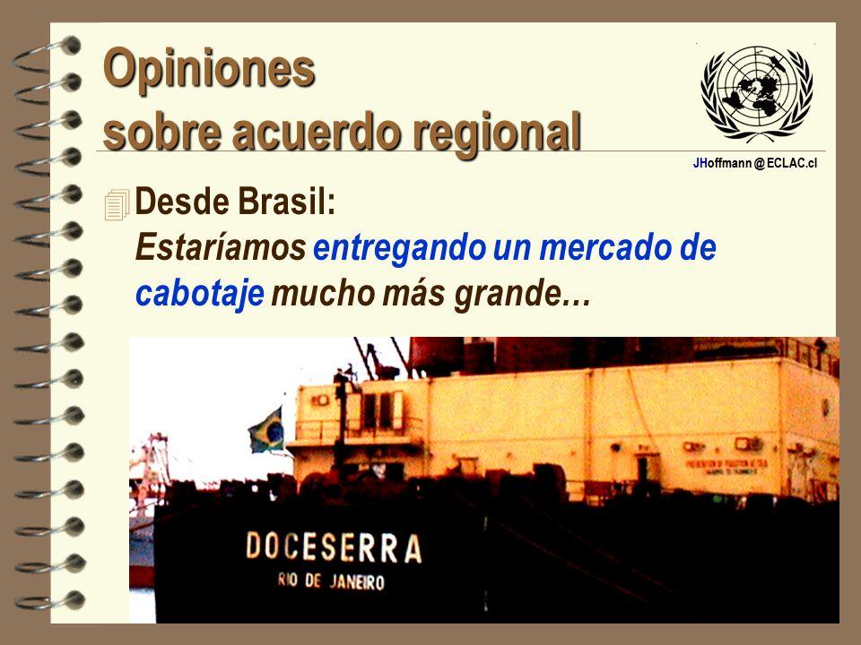 Opiniones sobre acuerdo regional