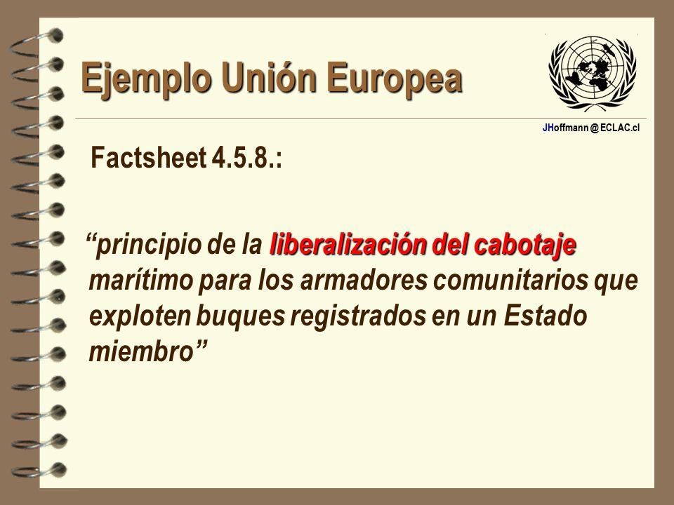 Ejemplo Unión Europea Factsheet 4.5.8.: