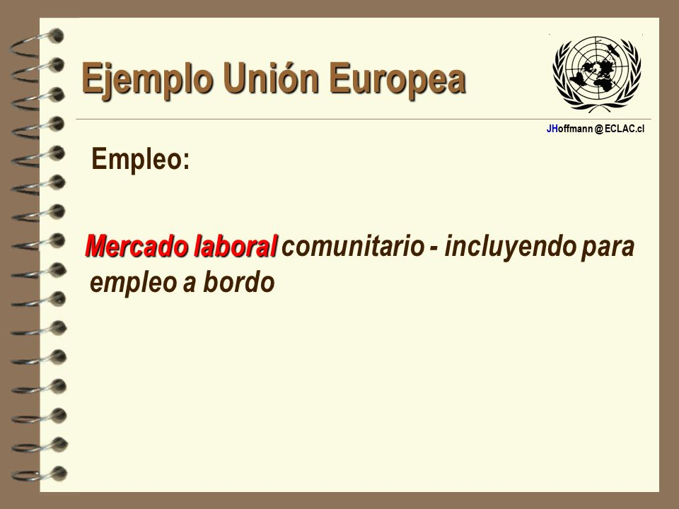 Ejemplo Unión Europea Empleo: