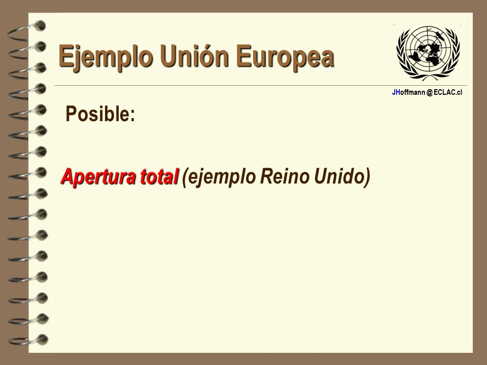 Ejemplo Unión Europea Posible: Apertura total (ejemplo Reino Unido)