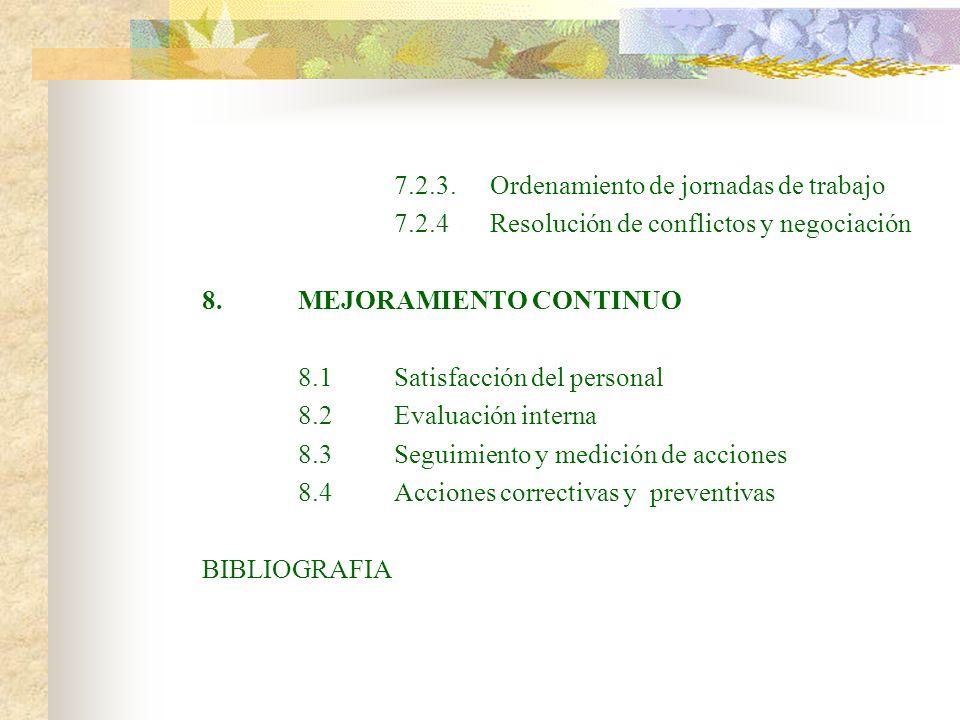 7.2.3. Ordenamiento de jornadas de trabajo