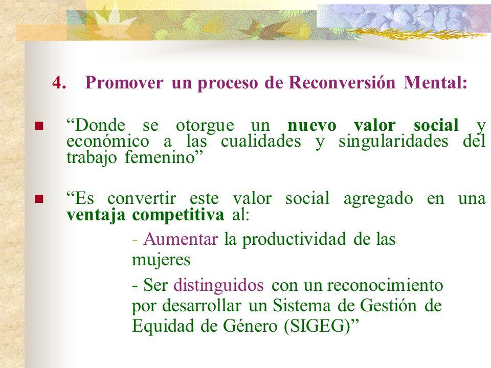 Promover un proceso de Reconversión Mental: