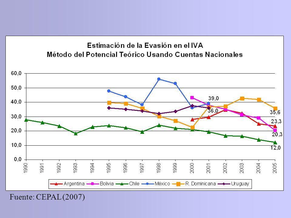 Fuente: CEPAL (2007)