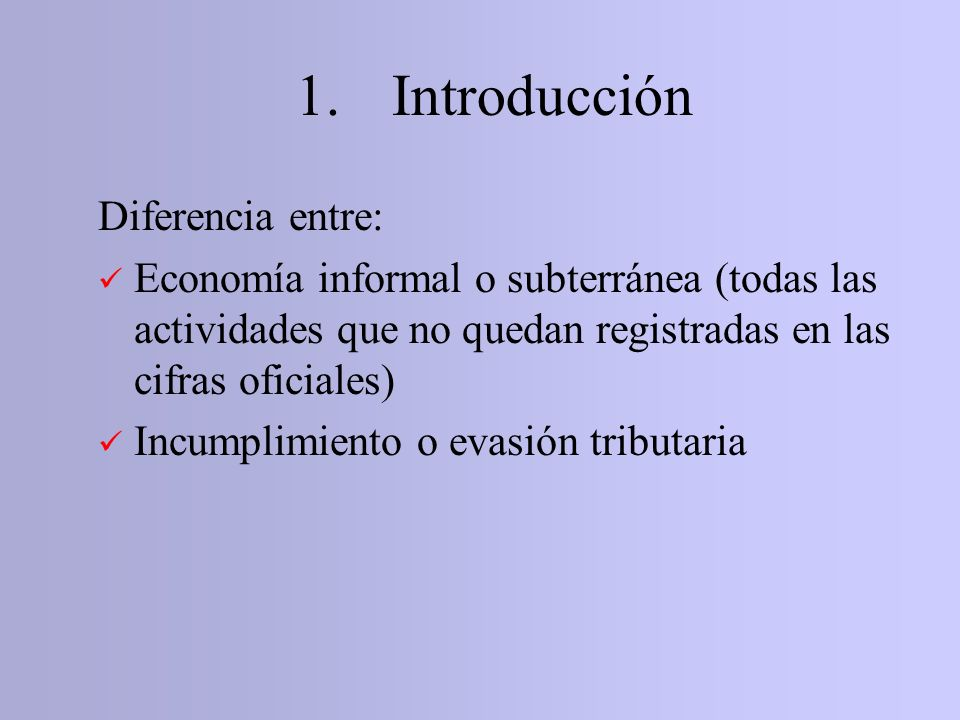 1. Introducción Diferencia entre:
