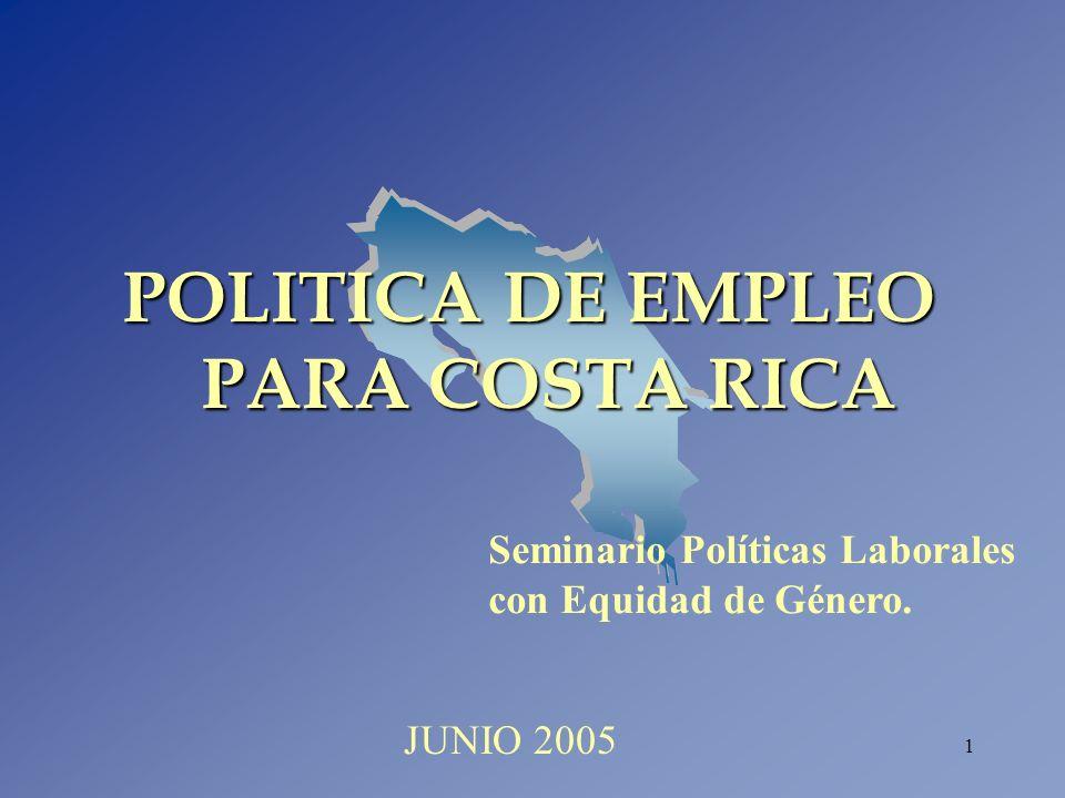 POLITICA DE EMPLEO PARA COSTA RICA