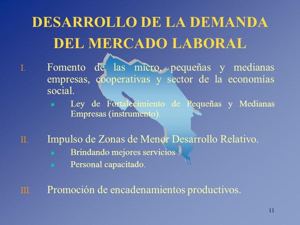DESARROLLO DE LA DEMANDA DEL MERCADO LABORAL