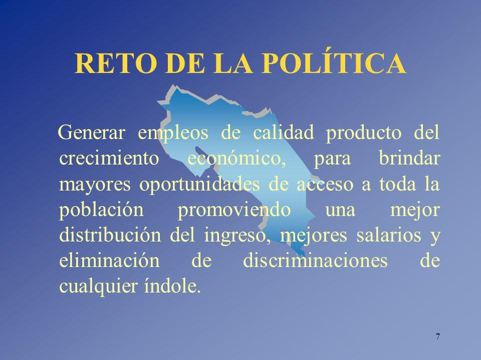 RETO DE LA POLÍTICA