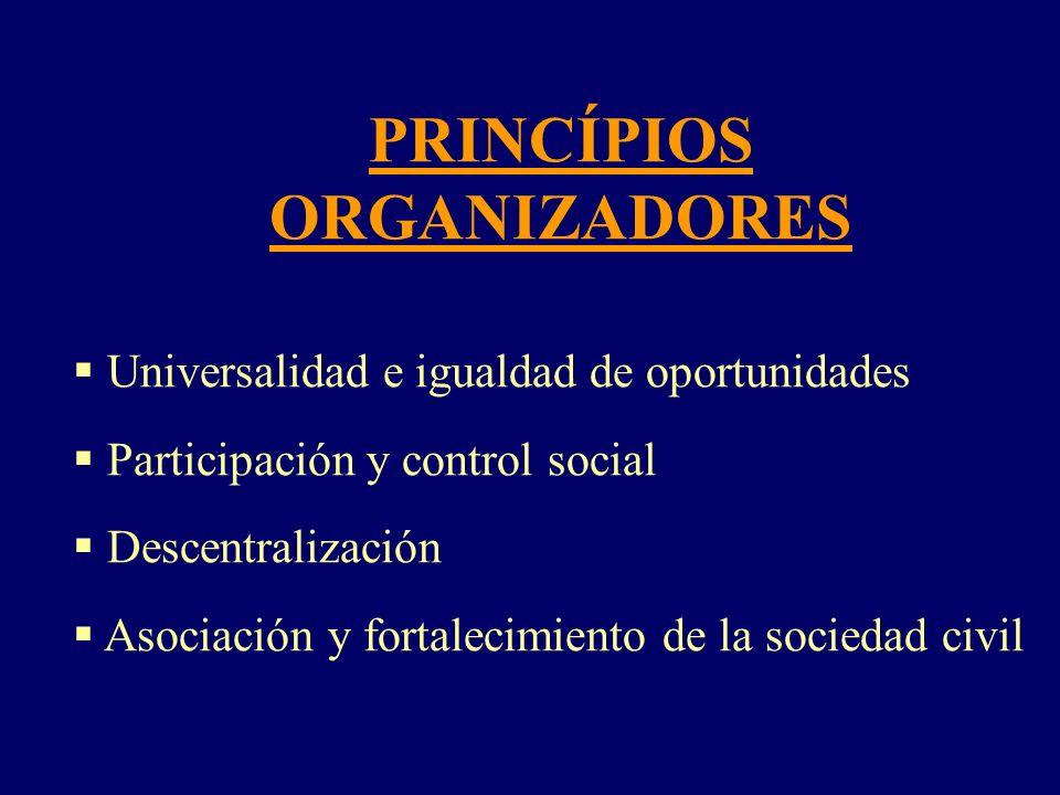 PRINCÍPIOS ORGANIZADORES