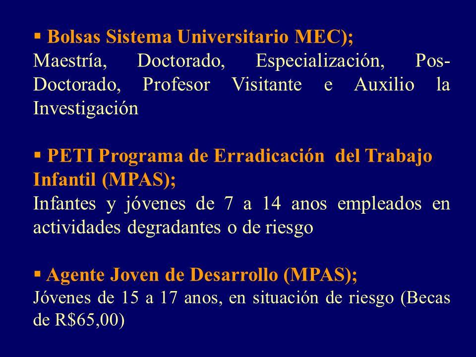 Bolsas Sistema Universitario MEC);